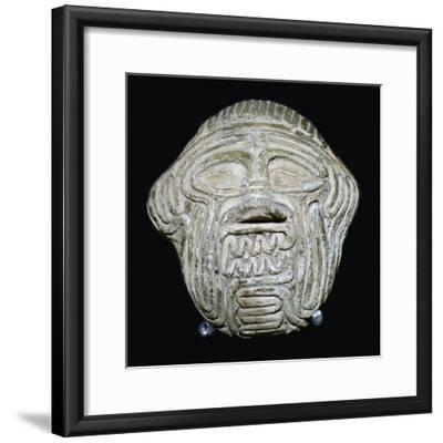 Clay mask of the demon Humbaba. Artist: Unknown-Unknown-Framed Giclee Print