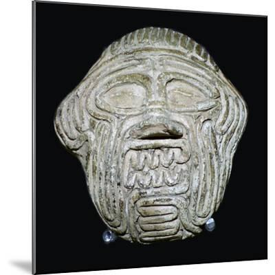 Clay mask of the demon Humbaba. Artist: Unknown-Unknown-Mounted Giclee Print