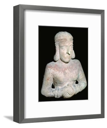 Terracotta statue of a woman, Old Babylonian (?), 2000BC-1750BC. Artist: Unknown-Unknown-Framed Giclee Print