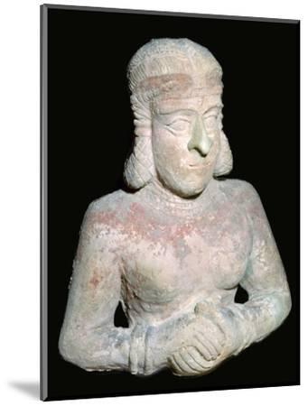 Terracotta statue of a woman, Old Babylonian (?), 2000BC-1750BC. Artist: Unknown-Unknown-Mounted Giclee Print