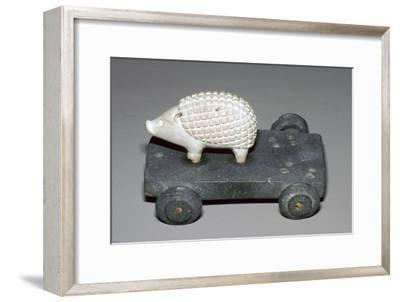 Persian hedgehog mounted on a wheeled carriage. Artist: Unknown-Unknown-Framed Giclee Print