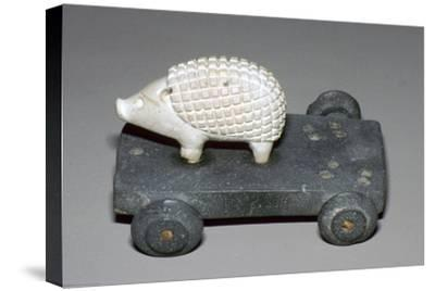 Persian hedgehog mounted on a wheeled carriage. Artist: Unknown-Unknown-Stretched Canvas Print