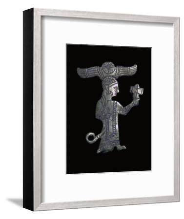 Hittite gold figure of a King or God. Artist: Unknown-Unknown-Framed Giclee Print