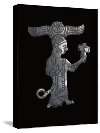 Hittite gold figure of a King or God. Artist: Unknown-Unknown-Stretched Canvas Print