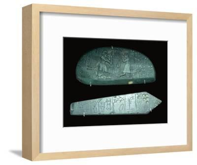 The blue monuments. Artist: Unknown-Unknown-Framed Giclee Print