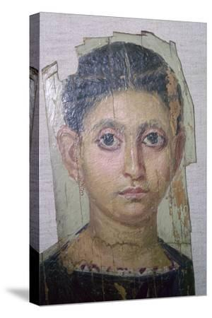 Egyptian funerary portrait of a young woman. Artist: Unknown-Unknown-Stretched Canvas Print