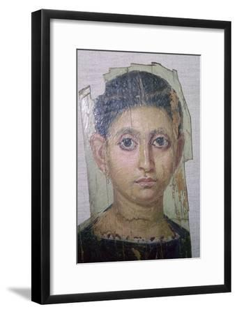 Egyptian funerary portrait of a young woman. Artist: Unknown-Unknown-Framed Giclee Print