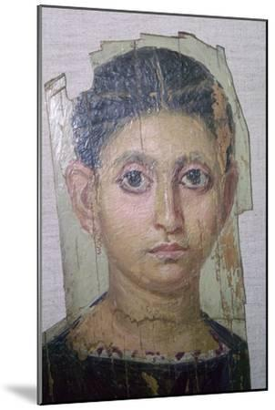 Egyptian funerary portrait of a young woman. Artist: Unknown-Unknown-Mounted Giclee Print