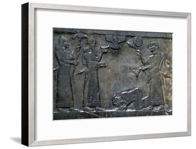 The Black Obelisk of Shalmaneser III, Neo-Assyrian, c858-c824 BC. Artist: Unknown-Unknown-Framed Giclee Print