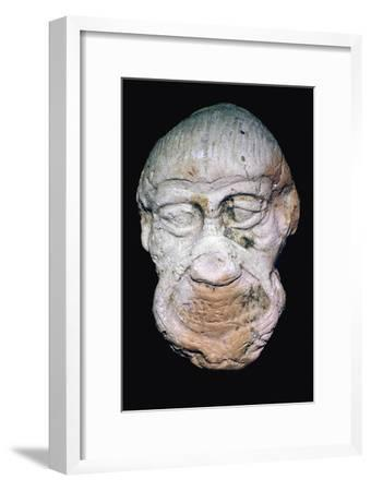 Terracotta head of a demon. Artist: Unknown-Unknown-Framed Giclee Print