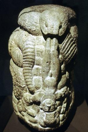 Serpent and Man vase. Artist: Unknown-Unknown-Framed Giclee Print