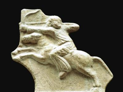 Scythian depiction of an archer on horseback. Artist: Unknown-Unknown-Framed Giclee Print