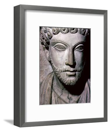 Limestone bust of Hairan, son of Marion from Palmyra, Syria, c150-200. Artist: Unknown-Unknown-Framed Giclee Print