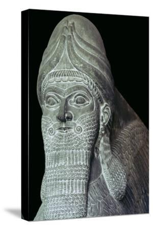 Assyrian Winged Bull detail. Artist: Unknown-Unknown-Stretched Canvas Print