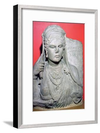 Limestone bust of Aqmat, daughter of Hagago, Palmyra, Syria, c100-c150. Artist: Unknown-Unknown-Framed Giclee Print
