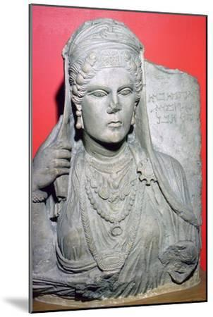 Limestone bust of Aqmat, daughter of Hagago, Palmyra, Syria, c100-c150. Artist: Unknown-Unknown-Mounted Giclee Print