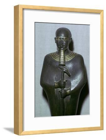 Egyptian statuette of Ptah. Artist: Unknown-Unknown-Framed Giclee Print