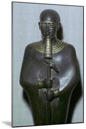 Egyptian statuette of Ptah. Artist: Unknown-Unknown-Mounted Giclee Print