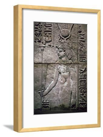 Egyptian relief of the goddess Isis. Artist: Unknown-Unknown-Framed Giclee Print