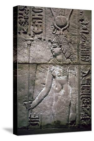Egyptian relief of the goddess Isis. Artist: Unknown-Unknown-Stretched Canvas Print