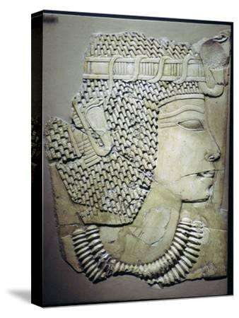 Egyptian relief of a pharaoh. Artist: Unknown-Unknown-Stretched Canvas Print