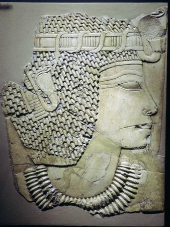 Egyptian relief of a pharaoh. Artist: Unknown-Unknown-Framed Giclee Print