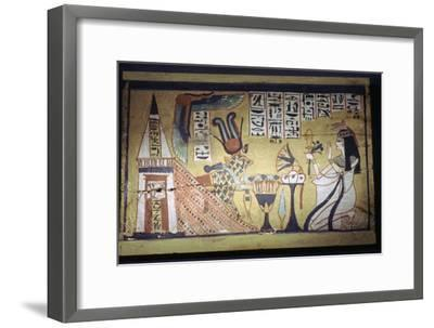 Egyptian painting on a wooden shabti box. Artist: Unknown-Unknown-Framed Giclee Print
