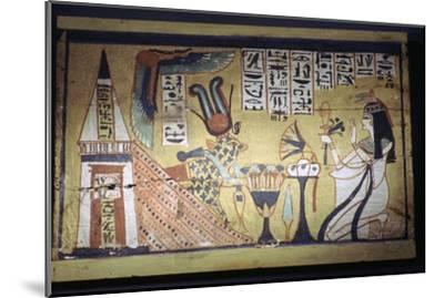 Egyptian painting on a wooden shabti box. Artist: Unknown-Unknown-Mounted Giclee Print