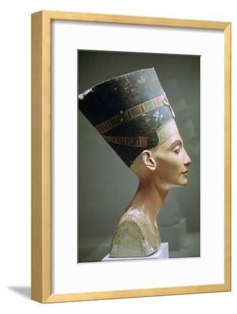 Head of Queen Nefertiti of Egypt. Artist: Unknown-Unknown-Framed Giclee Print