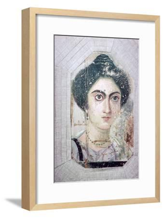 Roman period Egyptian portrait of a woman. Artist: Unknown-Unknown-Framed Giclee Print