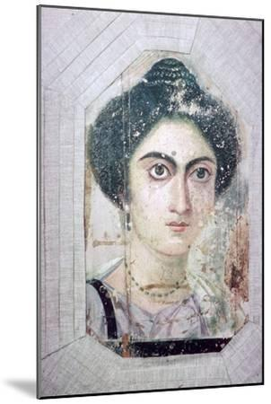 Roman period Egyptian portrait of a woman. Artist: Unknown-Unknown-Mounted Giclee Print