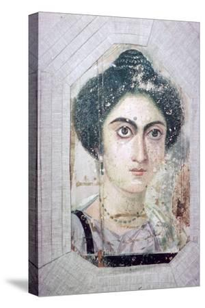 Roman period Egyptian portrait of a woman. Artist: Unknown-Unknown-Stretched Canvas Print