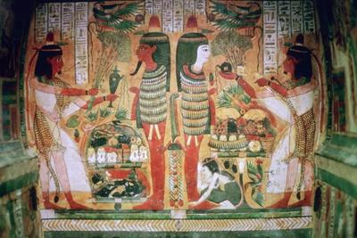 Egyptian painting inside a coffin. Artist: Unknown-Unknown-Framed Giclee Print