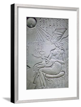 Nefertiti and two of her daughters. Artist: Unknown-Unknown-Framed Giclee Print