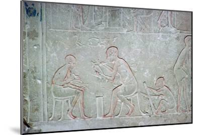 Egyptian relief showing vase painters, 14th century BC Artist: Unknown-Unknown-Mounted Giclee Print