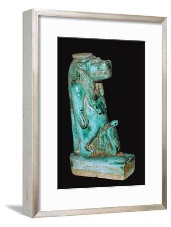 Egyptian faience statuette of the Egyptian goddess Tauret. Artist: Unknown-Unknown-Framed Giclee Print