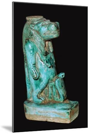 Egyptian faience statuette of the Egyptian goddess Tauret. Artist: Unknown-Unknown-Mounted Giclee Print