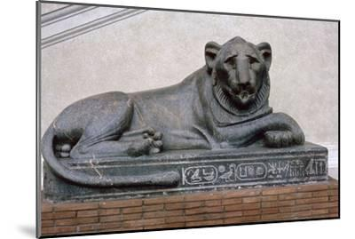 Egyptian sculpture of a lion. Artist: Unknown-Unknown-Mounted Giclee Print