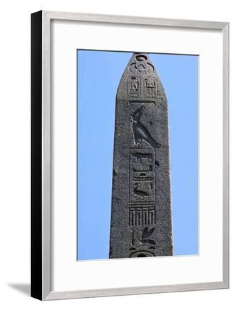 Detail of Egyptian obelisk. Artist: Unknown-Unknown-Framed Giclee Print