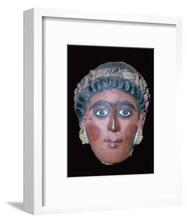 Egyptian painted funerary mask, 2nd century BC. Artist: Unknown-Unknown-Framed Giclee Print