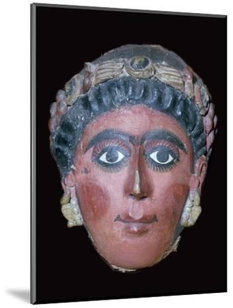Egyptian painted funerary mask, 2nd century BC. Artist: Unknown-Unknown-Mounted Giclee Print