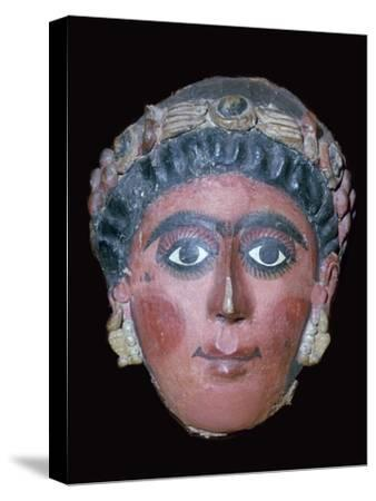 Egyptian painted funerary mask, 2nd century BC. Artist: Unknown-Unknown-Stretched Canvas Print