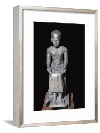 Egyptian bronze statuette of Imhotep, 27th century BC. Artist: Unknown-Unknown-Framed Giclee Print