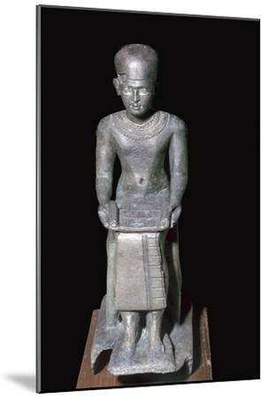 Egyptian bronze statuette of Imhotep, 27th century BC. Artist: Unknown-Unknown-Mounted Giclee Print