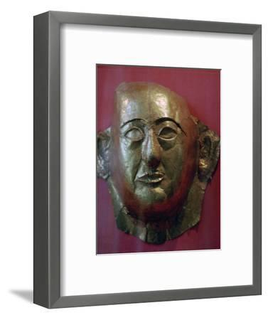 Egyptian gold death mask of Prince Khaemweset, 13th century BC. Artist: Unknown-Unknown-Framed Giclee Print