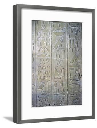Egyptian relief showing the annals of Tuthmosis III. Artist: Unknown-Unknown-Framed Giclee Print