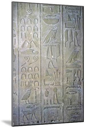 Egyptian relief showing the annals of Tuthmosis III. Artist: Unknown-Unknown-Mounted Giclee Print