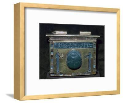 Egyptian gold pectoral with scarab. Artist: Unknown-Unknown-Framed Giclee Print