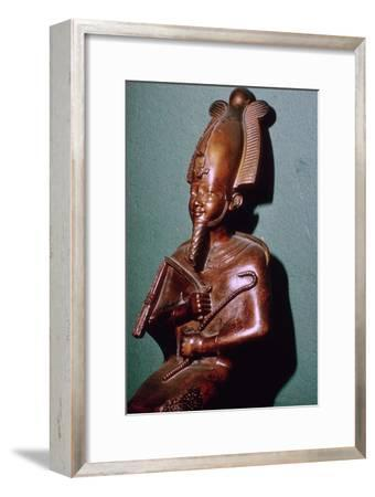 Egyptian statuette of Osiris. Artist: Unknown-Unknown-Framed Giclee Print