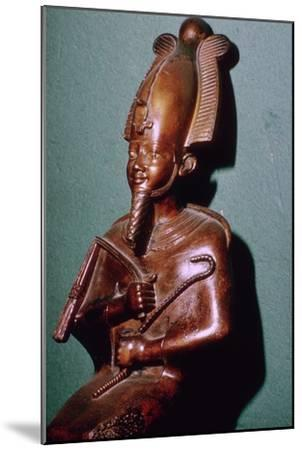 Egyptian statuette of Osiris. Artist: Unknown-Unknown-Mounted Giclee Print